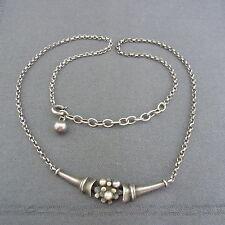 """schönes altes Collier 925/-Silber """"PE"""" Perlen ca. 60/70er Jahre"""