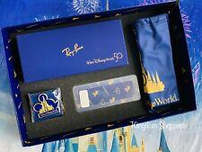 Disney 50th Ann Ray-Ban Aviator 38mm Metal Polarized Sunglasses Box Set LE 2000