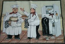 Chef Chefs Bake Baking Oven Cooking Kitchen Refridgerator Tapestry Rug Thow Mat