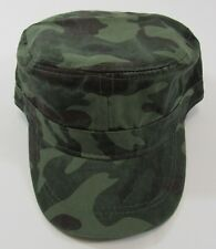 858de8bb5f2 Military Fitted Cadet Cap in Camouflage Green Unisex 100 Cotton Size 58cm