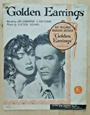 Golden Earrings sheet music Ray Milland Marlene Dietrich 1946 Victor Young