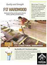 120 x 45mm Hardwood F17 KD Decking Fencing Bearers Joists Framing $8.10plm