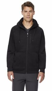 32 Degrees Men's Sherpa Lined Full Zip Hoodie Black Size XXL