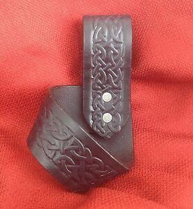 """1.5"""" Leather Tomahawk Frog Hanger Hatchet Axe Sword Dagger SCA Larp Bushcraft"""