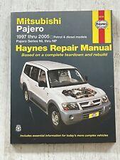 Haynes Manual 68766 - Mitsubishi Pajero, 1997 to 2005, petrol & diesel