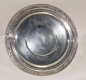 """Vintage Wallace (WR&S) Sterling Silver 8"""" Sandwich or Cookie Plate, 3953"""