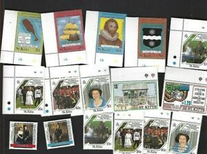 St. Kitts sc#173-88 (1985-6) Complete MNH