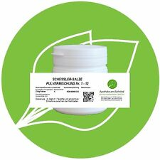 Schüssler Salz Pulvermischung (Nr.1-12) 250 g PZN 08001565