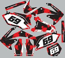 Graphic Kit for 2014-2016 Honda CRF250 CRF 250 Number Plates Fender shroud Decal