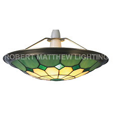 TIFFANY - STYLE BISTRO  UPLIGHTER LARGE-SHADE Green/Amber RM15 UPL29
