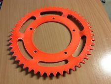 COURRONNE 48 DENTS MOD **ORANGE FLUO** MOBS MBK 51 ROUE ALU  *FREIN EN 90MM**