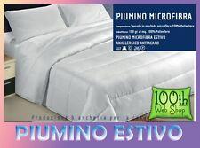 PIUMINO ESTIVO MICROFIBRA SINGOLO 155X200 UNA PIAZZA LEGGERO PIUMOTTO 01PMESTMC1