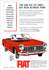 FIAT 1500 SPIDER CONVERTIBLE RETRO A3 POSTER PRINT FROM CLASSIC 60'S ADVERT