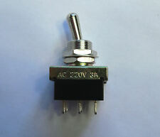 Interruptor de alimentación de Palanca Cromado Para Amplificador De Guitarra Marshall Plexi Interruptor DPDT Cambio