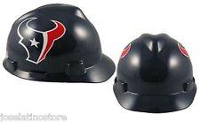 "MSA V-Gard Cap Type Houston Texans NFL Hard Hat ""RATCHET""Suspension FAST SHIP!"