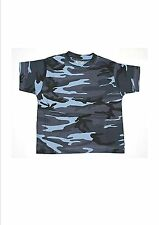 Tee-shirt Enfant Camouflage Bleu 8ans