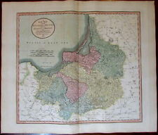Prussia Little Lithuania Poland Belarus 1811 John Cary lovely large old map