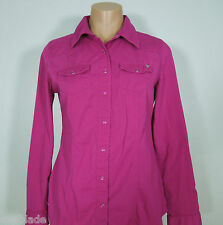GUESS Pink Shirt Snap Buttos Front size S