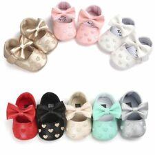 Newborn Baby Girls Soft Crib Sole Shoes Infants Kids Anti-slip Sneaker Prewalker