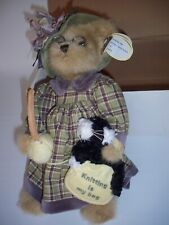 """Bearington Bears Collection Plush """"Mrs. Knitter and Pearl"""" Collectible"""