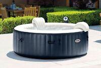 Intex Pure Spa 4 Person Inflatable Portable Heated Bubble Hot Tub Model 28405E