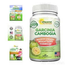eSquared HCA High Potency Pure Garcinia Cambogia Extract 120 Count 3000 Mg
