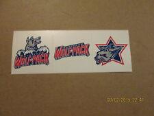 Ahl Hartford Wolfpack 1997-98 Lot of 3 Hockey Stickers