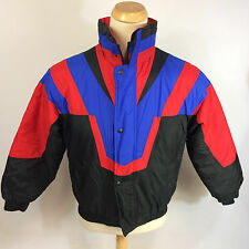 Vintage 80s 90s Party Ski Surf Coat Jacket Firebird V Retro M Puff Puffer Winter