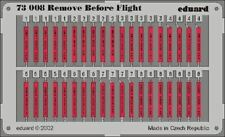 EDUARD 1/72 AIRCRAFT- REMOVE BEFORE FLIGHT TAGS (PAINTED) | 73008