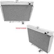 1967-1970 Ford Mustang 4 Row CHAMPION Aluminum Radiator (pass/pass hoses)