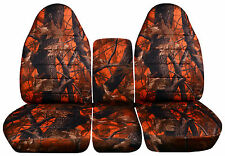 Dawn Tree Camouflage 40-20-40 Seat Covers for a 1993 to 1998 Ford F Series