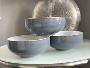 3 x Denby Storm Cereal / Dessert Bowls