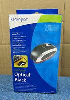 Kensington New Boxed Stylish ValueOptical Black 3 Button Scroll Optical Mouse