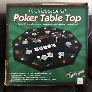 Poker Table Top 8 Player x 2 Fold Tabletop - Home Game - RRP £40