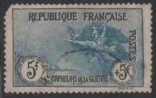 "FRANCE STAMP TIMBRE N° 155 "" ORPHELINS LA MARSEILLAISE 5F+5F"" OBLITERE VOIR K398"