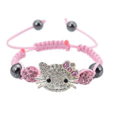 Adjustable Shamballa Bead: Hello Kitty, Harajuku, Kawaii, style girls bracelet