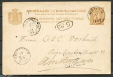 N.I.,ROUTE NED:INDIE OVER NAPELS OP BRIEFK.7½ CT,KLEINROND MEDAN 17/4 1889 ZH731