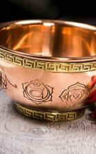 7 Chakras Copper Altar Smudging Bowl Perfect for Burning Incense and Herbs