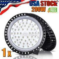 200W 200 Watt UFO LED High Bay Light Shop Lights Garage Lamps Highbay US Grow