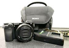 Sony Alpha a6000 24.3MP Digital Camera ILCE-6000  w/ Sony Lens 16-50mm & Case