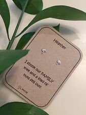 Family Birthday Gift For Her Sterling Silver Personalised Earring Gift.Saccos