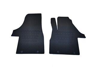 Rugged Rubber Floor Mats Tailored for VW Transporter Multivan T6 16-21 Odouless
