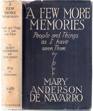 A Few More Memories by Mary Anderson de Navarro, SIGNED by author, ilst 1936