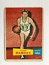 New listing FRANK  RAMSEY / boston  CELTICS  - 1957-58  TOPPS  basketball  COLLECTOR  card