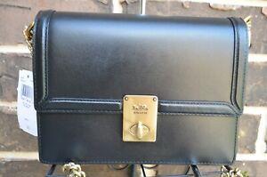 NWT $395 COACH Hutton Leather Shoulder Bag 88342 black