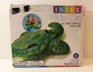 """Intex Lil Sea Turtle Ride-On Inflatable 59"""" x 50"""" Kids Swimming Pool Float Raft"""