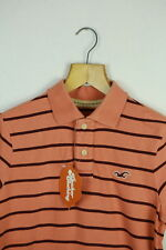 Vintage Hollister mens polo shirt small Festival Surfeur répartis Orange Slim p43