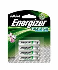 AAA Energizer Rechargeable NiMH Batteries AAA4 Recharge 4/pack Power Plus