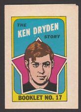 1971-72  TOPPS / OPC  BOOKLET   # 17  KEN DRYDEN    INV A3670