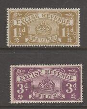 Uk Gb Revenue Fiscal stamps 4-29- mnh gum
